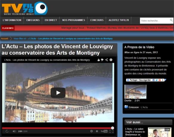 Reportage sur l'exposition  au Conservatoire des Arts de Montigny le Bretonneux