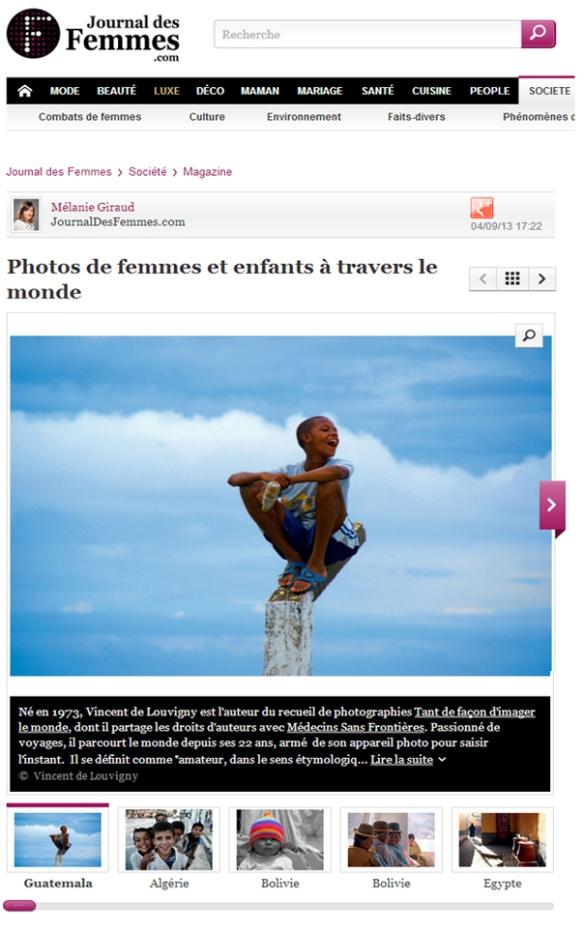 Sélection de photos de femmes et d'enfants du monde