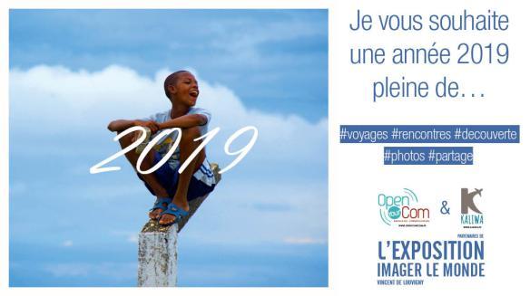 Vincent de Louvigny, photographe voyageur, auteur de l'expophotos Imager le Monde, présente ses voeux 2019 #voyages #rencontres #vdl #photographie